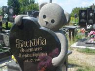 Детские памятники на кладбище