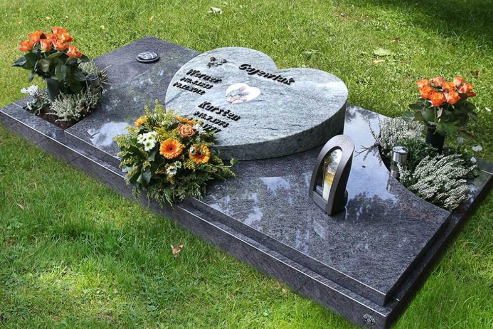 Мемориальный комплекс из двух видов гранитов Любим Эконом памятник Купола с профильной резкой Чернь